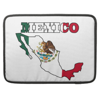 Mexico Flag in Map Sleeve For MacBooks