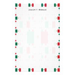 Mexico Flag in Multiple Colorful Layers 2 Custom Stationery