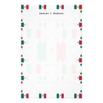 Mexico Flag in Multiple Colorful Layers 2 Stationery