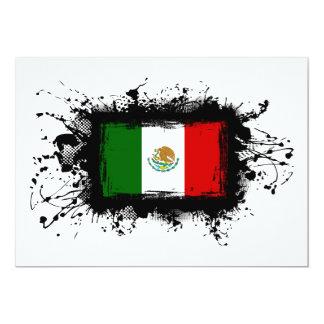 Mexico Flag 5x7 Paper Invitation Card