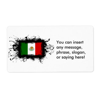 Mexico Flag Shipping Label