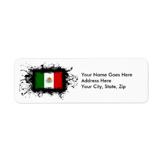 Mexico Flag Return Address Label