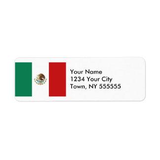 Mexico Flag Label