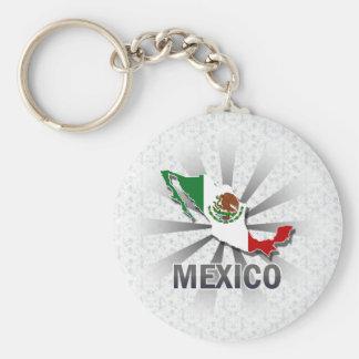 Mexico Flag Map 2.0 Keychain