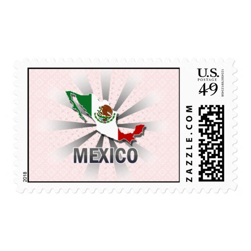 Mexico Flag Map 2.0 Postage Stamps
