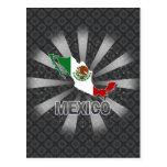 Mexico Flag Map 2.0 Postcard