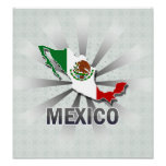 Mexico Flag Map 2.0 Posters