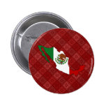 Mexico Flag Map full size Pinback Buttons