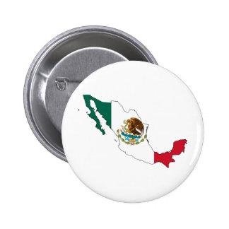 mexico flag map. la Bandera Nacional Button