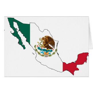 mexico flag map. la Bandera Nacional Greeting Cards