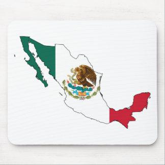mexico flag map. la Bandera Nacional Mouse Pad