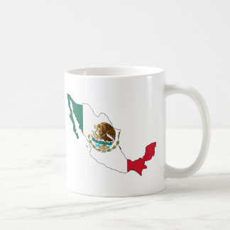 mexico flag map. la Bandera Nacional Coffee Mugs