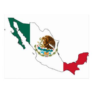 mexico flag map. la Bandera Nacional Post Cards