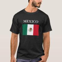 Mexico Flag Mens Black T-shirt