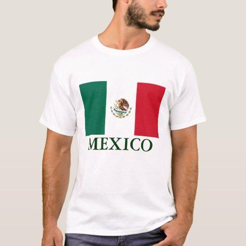 Mexico Flag Mens T_shirt