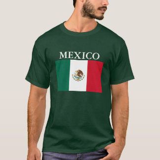 Mexico Flag Mens T-shirt Forest Green