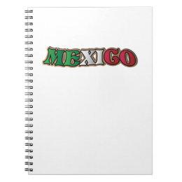Mexico flag  Mexican Football Love Notebook