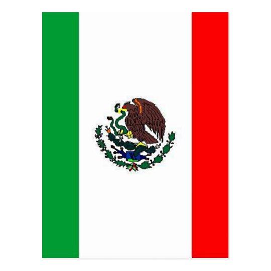 MEXICO FLAG - NATIONAL MEXICAN FLAG POSTCARD