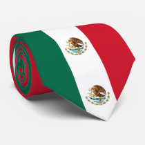 Mexico Flag Neck Tie