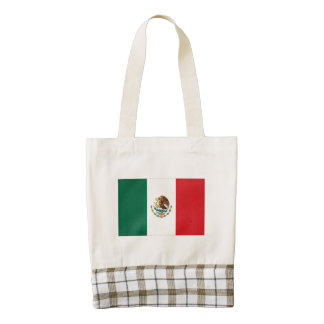 Mexico Flag Oil Painting Zazzle HEART Tote Bag