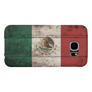 Mexico Flag on Old Wood Grain Samsung Galaxy S6 Case