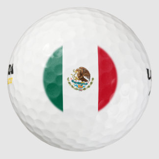 Mexico Flag Pack Of Golf Balls