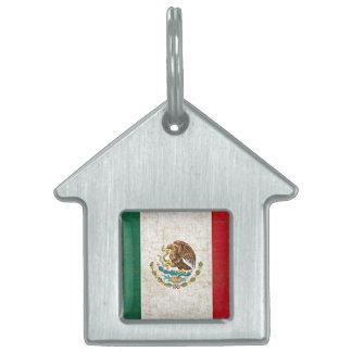 MEXICO FLAG PET NAME TAG