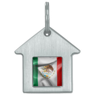 Mexico Flag Pet Name Tag