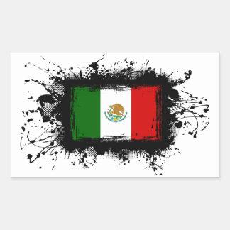 Mexico Flag Rectangular Sticker