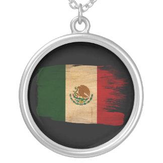 Mexico Flag Round Pendant Necklace