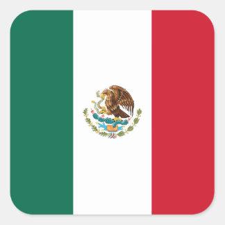 Mexico Flag Square Sticker