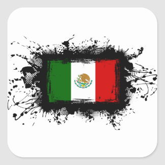 Mexico Flag Square Sticker