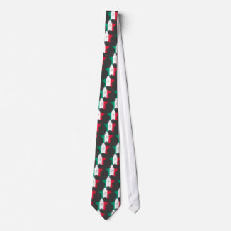 Mexico Flag Star Shining Neck Tie