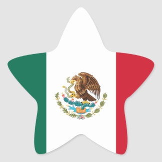 Mexico flag star stickers