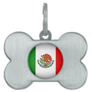 Mexico Flag Stylized Pet Name Tag