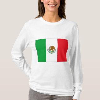 Mexico Flag T-Shirt Mexican Flag Woman's