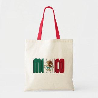 Mexico Flag Text Image Budget Tote Bag