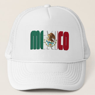 Mexico Flag Text Image Trucker Hat