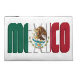 Mexico Flag Text Travel Accessories Bags