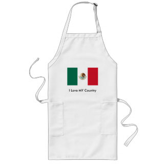 Mexico Flag The MUSEUM Zazzle I Love MY Country Long Apron