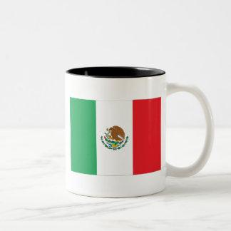 Mexico Flag Two-Tone Coffee Mug