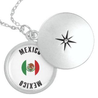 Mexico Flag Wheel Locket Necklace