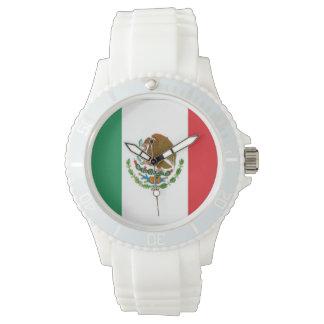 Mexico Flag Wrist Watch