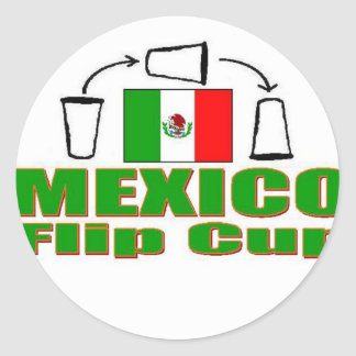 Mexico Flip Cup Classic Round Sticker