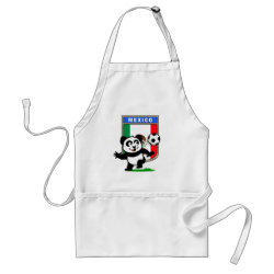 Apron with Mexico Football Panda design