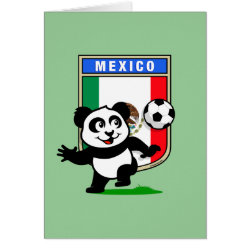 Greeting Card with Mexico Football Panda design