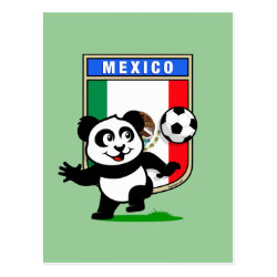 Postcard with Mexico Football Panda design
