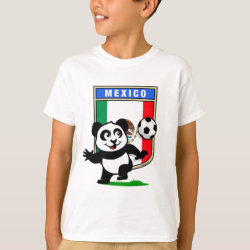 Kids' Hanes TAGLESS® T-Shirt with Mexico Football Panda design