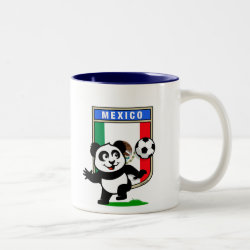Two-Tone Mug with Mexico Football Panda design