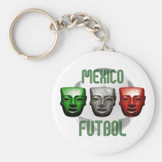 Mexico Futbol masks for El Tri fans Basic Round Button Keychain